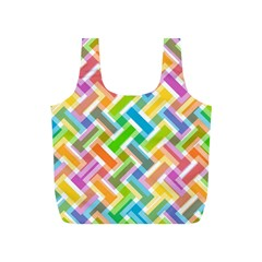 Abstract Pattern Colorful Wallpaper Full Print Recycle Bags (S)