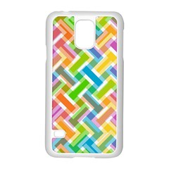 Abstract Pattern Colorful Wallpaper Samsung Galaxy S5 Case (White)