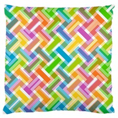 Abstract Pattern Colorful Wallpaper Standard Flano Cushion Case (one Side)