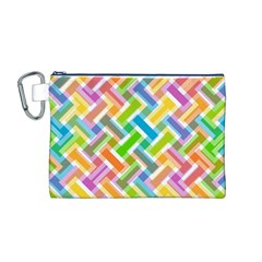 Abstract Pattern Colorful Wallpaper Canvas Cosmetic Bag (m)