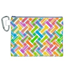 Abstract Pattern Colorful Wallpaper Canvas Cosmetic Bag (XL)