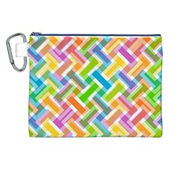 Abstract Pattern Colorful Wallpaper Canvas Cosmetic Bag (XXL)