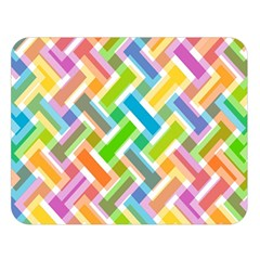 Abstract Pattern Colorful Wallpaper Double Sided Flano Blanket (Large)