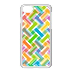 Abstract Pattern Colorful Wallpaper Apple iPhone 7 Seamless Case (White)