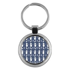Seahorse And Shell Pattern Key Chains (Round)