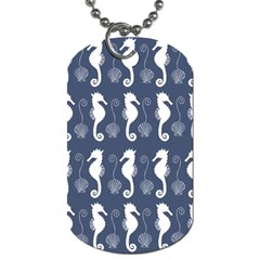 Seahorse And Shell Pattern Dog Tag (One Side)
