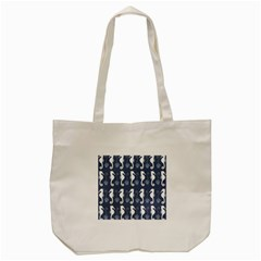 Seahorse And Shell Pattern Tote Bag (Cream)