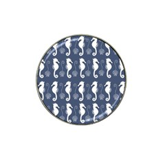 Seahorse And Shell Pattern Hat Clip Ball Marker (4 pack)