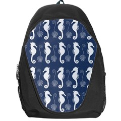 Seahorse And Shell Pattern Backpack Bag