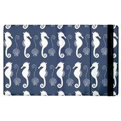 Seahorse And Shell Pattern Apple Ipad 3/4 Flip Case