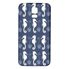 Seahorse And Shell Pattern Samsung Galaxy S5 Back Case (White)