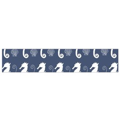 Seahorse And Shell Pattern Flano Scarf (Small)