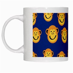 Monkeys Seamless Pattern White Mugs