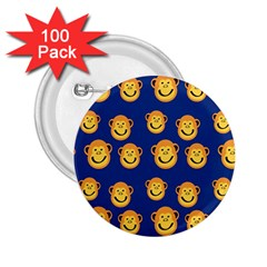 Monkeys Seamless Pattern 2.25  Buttons (100 pack)
