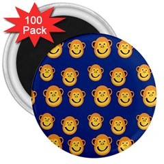 Monkeys Seamless Pattern 3  Magnets (100 Pack)