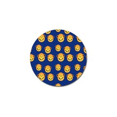 Monkeys Seamless Pattern Golf Ball Marker