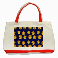 Monkeys Seamless Pattern Classic Tote Bag (Red)