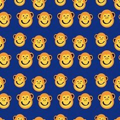Monkeys Seamless Pattern Magic Photo Cubes