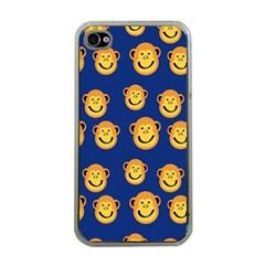 Monkeys Seamless Pattern Apple iPhone 4 Case (Clear)