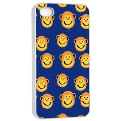 Monkeys Seamless Pattern Apple iPhone 4/4s Seamless Case (White)