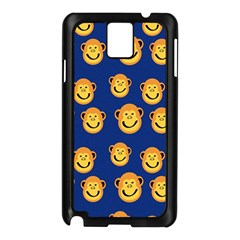 Monkeys Seamless Pattern Samsung Galaxy Note 3 N9005 Case (Black)