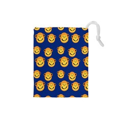 Monkeys Seamless Pattern Drawstring Pouches (small)