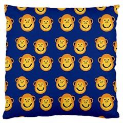 Monkeys Seamless Pattern Large Flano Cushion Case (Two Sides)