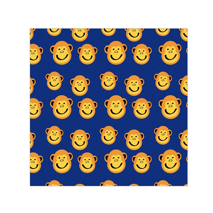 Monkeys Seamless Pattern Small Satin Scarf (Square)