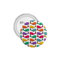 Small Rainbow Whales 1 75  Buttons