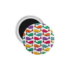 Small Rainbow Whales 1 75  Magnets