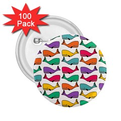 Small Rainbow Whales 2.25  Buttons (100 pack)