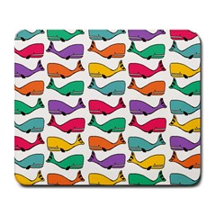 Small Rainbow Whales Large Mousepads