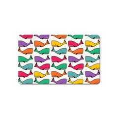 Small Rainbow Whales Magnet (name Card)