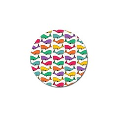 Small Rainbow Whales Golf Ball Marker (4 pack)