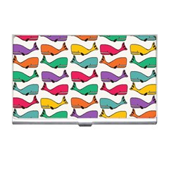 Small Rainbow Whales Business Card Holders