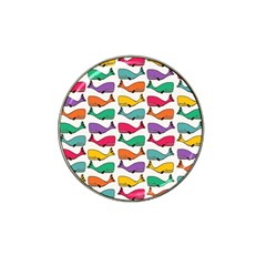 Small Rainbow Whales Hat Clip Ball Marker