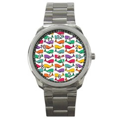 Small Rainbow Whales Sport Metal Watch