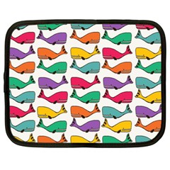 Small Rainbow Whales Netbook Case (xxl)
