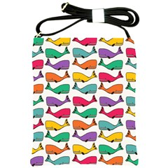 Small Rainbow Whales Shoulder Sling Bags