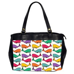 Small Rainbow Whales Office Handbags (2 Sides)