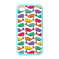 Small Rainbow Whales Apple iPhone 4 Case (Color)