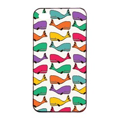 Small Rainbow Whales Apple iPhone 4/4s Seamless Case (Black)