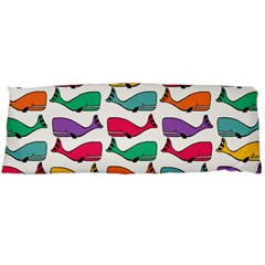 Small Rainbow Whales Body Pillow Case Dakimakura (Two Sides)