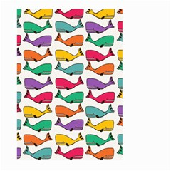 Small Rainbow Whales Large Garden Flag (Two Sides)
