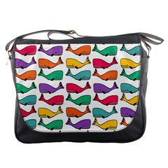 Small Rainbow Whales Messenger Bags