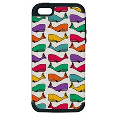 Small Rainbow Whales Apple iPhone 5 Hardshell Case (PC+Silicone)
