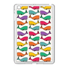 Small Rainbow Whales Apple iPad Mini Case (White)