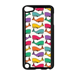 Small Rainbow Whales Apple iPod Touch 5 Case (Black)