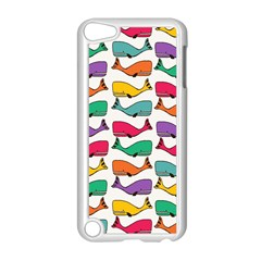 Small Rainbow Whales Apple iPod Touch 5 Case (White)