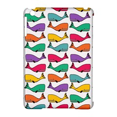 Small Rainbow Whales Apple iPad Mini Hardshell Case (Compatible with Smart Cover)